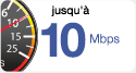 Up to 10 Mbps