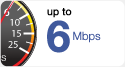 Up to 6 Mbps